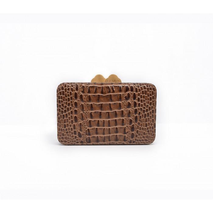 Box Clutch - Brown