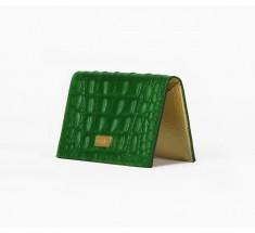 Cardholder Crocodile - Green
