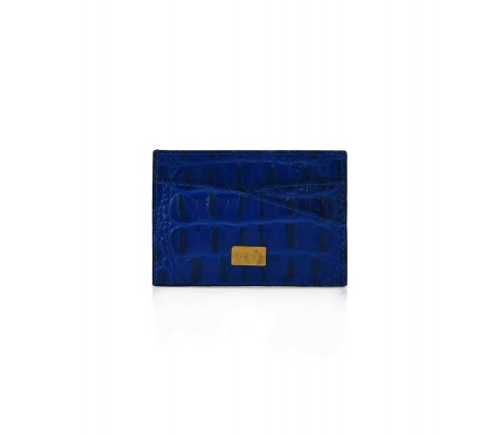 Cardholder Double Curve - Blue Gitane