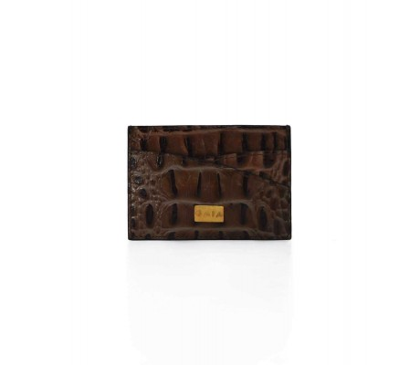 Cardholder Double Curve - Brown