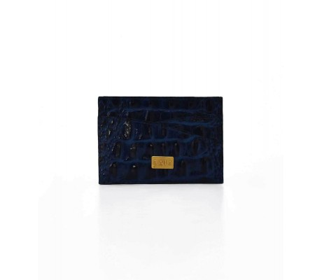 Cardholder Double Curve - Blue