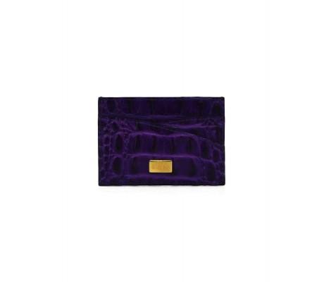 Cardholder Double Curve - Purple