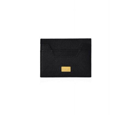 Cardholder Hex Cut Textured - Black