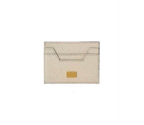 Cardholder Hex Cut Textured - Beige