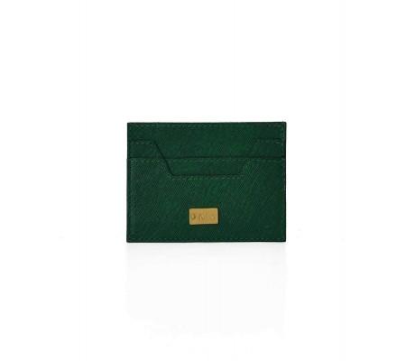 Cardholder Hex Cut Textured - Olive