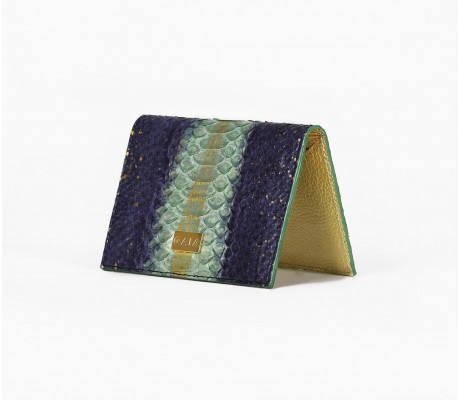Cardholder Python - Multi Navy Blue