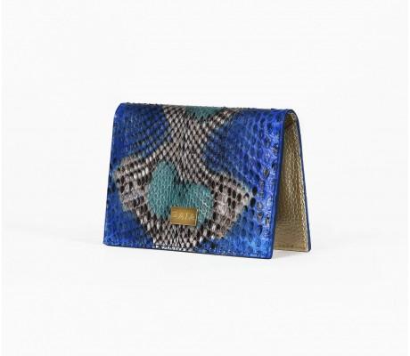 Cardholder Python - Multi Vivid Blue
