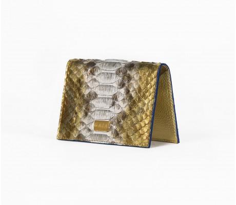 Cardholder Python - Multi Gold and White