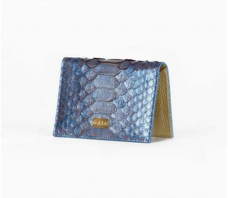 Cardholder Python - Mono Metallic Blue
