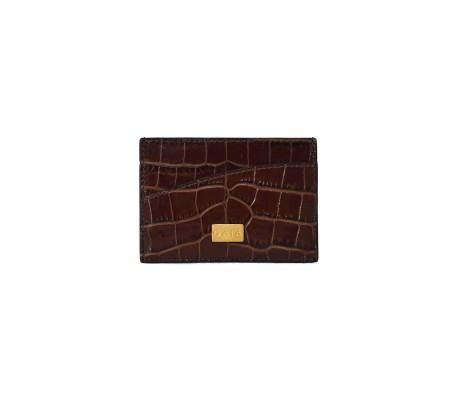 Cardholder Single Curve - Brown