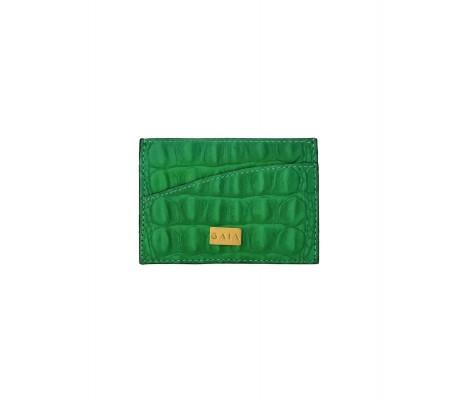 Cardholder Single Curve - Green