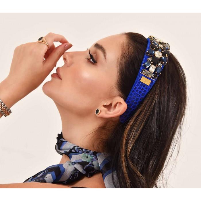 Headbands Crystal Shiny Blue Gitane