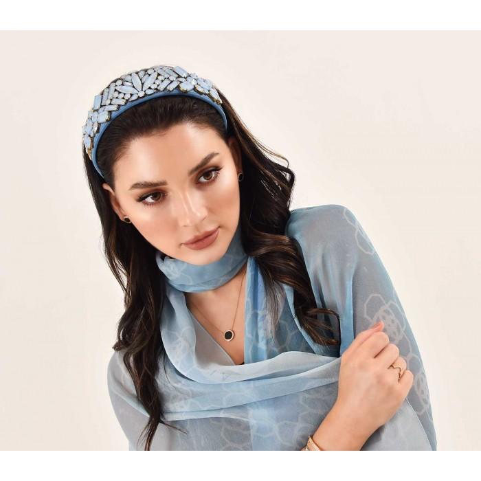 Headbands Crystal Blue