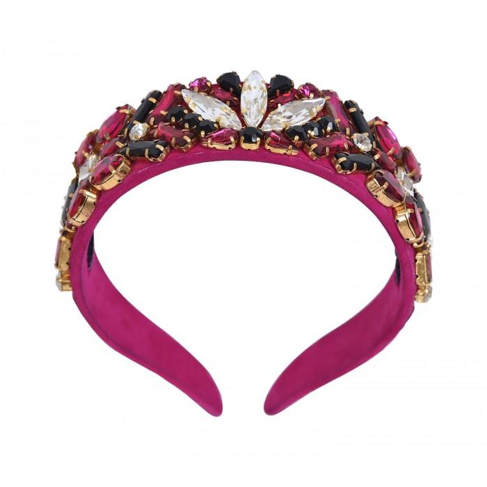 Headbands Crystal Fuchsia