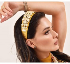 Headbands Crystal Gold