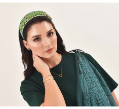 Headbands Crystal Green