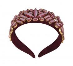 Headbands Crystal Burgundy
