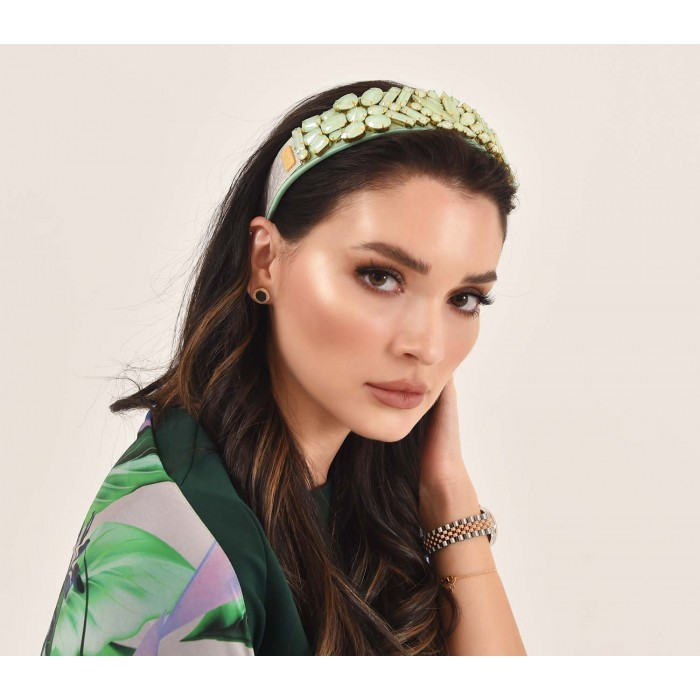 Headbands Crystal Light Green