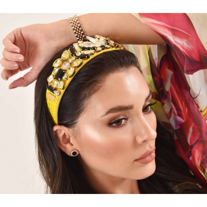 Headbands Crystal Yellow