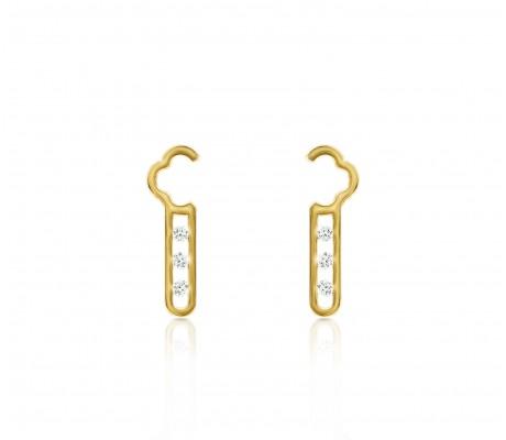 JW - Air Earrings - Yellow Gold