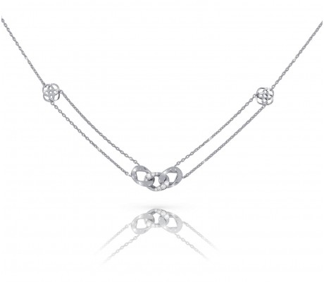 JW - Chain Necklace - White Gold