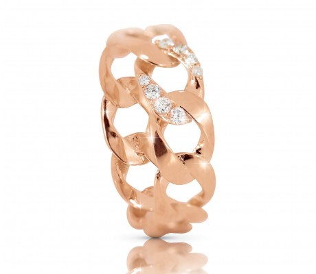 JW - Chain Ring - Rose Gold