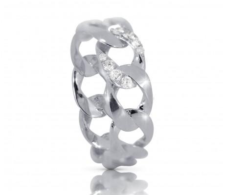 JW - Chain Ring - White Gold