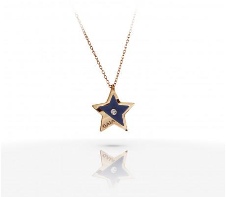 JW Constellation - Necklace RG - Blue