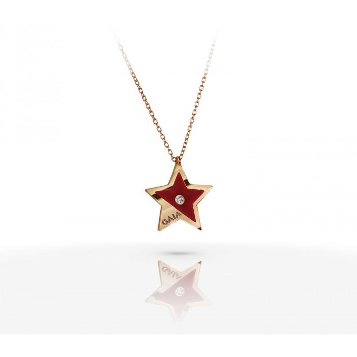 JW Constellation - Necklace RG - Maroon
