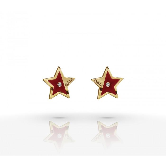 JW Constellation - Earrings YG - Maroon