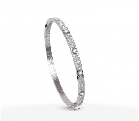 JW Diamond Exclusive Bangle - White Gold