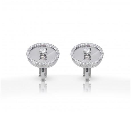 JW Diamond Earrings - White Gold