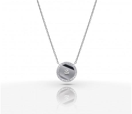 JW Diamond Necklace - White Gold