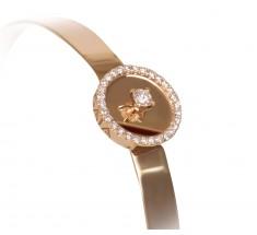 JW Diamond Bangle - Rose Gold