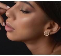 JW Diamond Earrings - Rose Gold