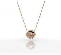 JW Diamond Necklace - Rose Gold