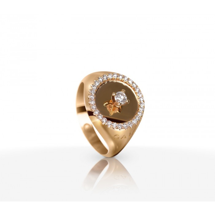 JW Diamond Ring - Rose Gold