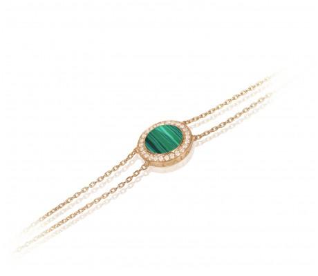 JW Circle Of Life - Bracelet RG Malachite
