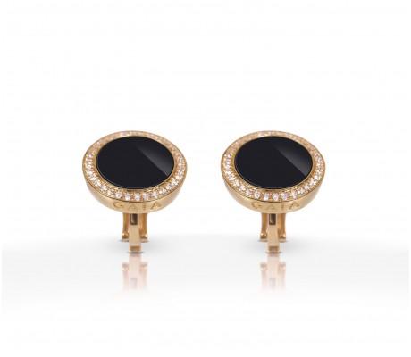JW Circle Of Life - Earrings RG Onyx