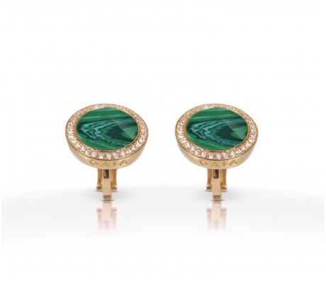 JW Circle Of Life - Earrings RG Malachite