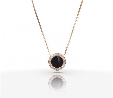 JW Circle Of Life - Necklace RG Onyx