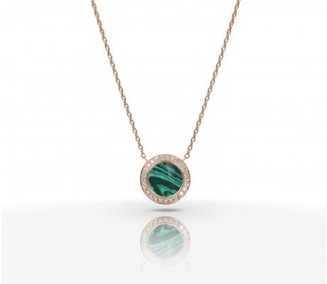 JW Circle Of Life - Necklace RG Malachite