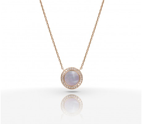 JW Circle Of Life - Necklace RG Pearl