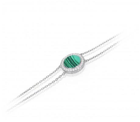 JW Circle Of Life - Bracelet WG Malachite