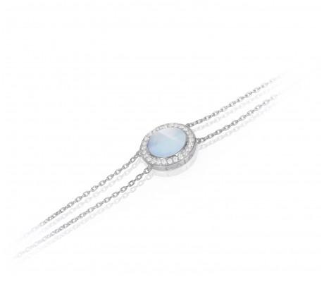 JW Circle Of Life - Bracelet WG Pearl