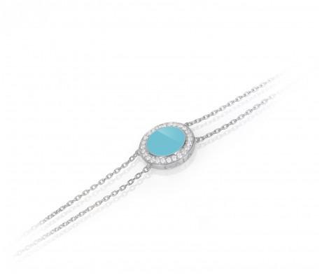 JW Circle Of Life - Bracelet WG Turquoise