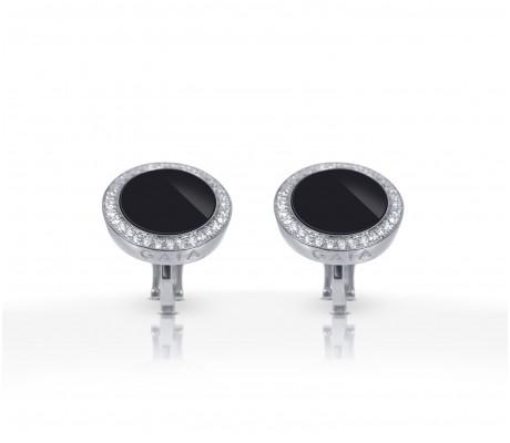 JW Circle Of Life - Earrings WG Onyx