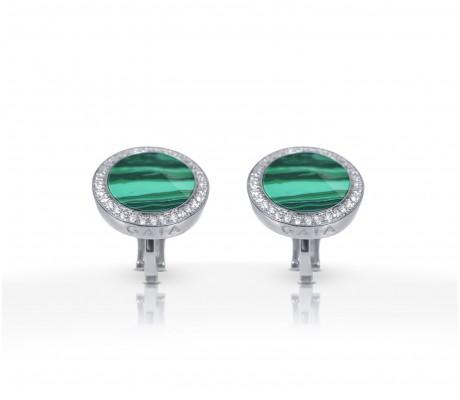 JW Circle Of Life - Earrings WG Malachite