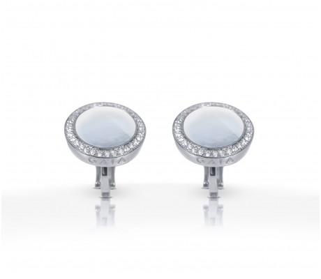 JW Circle Of Life - Earrings WG Pearl