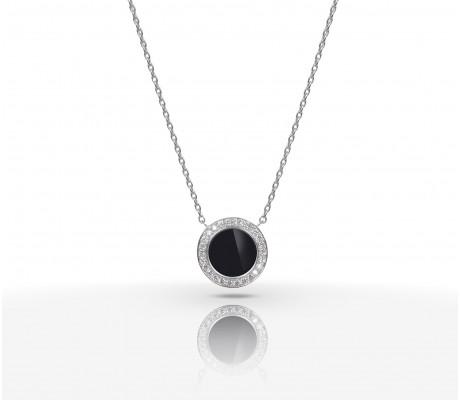 JW Circle Of Life - Necklace WG Onyx